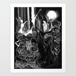 Demon Ritual Art Print