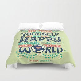 Be kind to yourself Duvet Cover