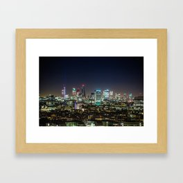 London at Night Framed Art Print