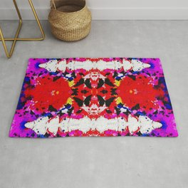 Butterfly Ikat Watercolor Rug