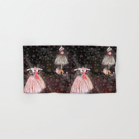 Black dress fashion #5 Hand & Bath Towel