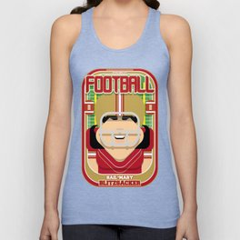 American Football Red and Gold -  Hail-Mary Blitzsacker - Amy version Unisex Tank Top