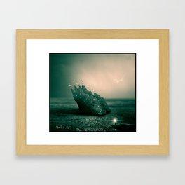 Alien spaceship Framed Art Print