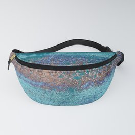 Rust and Cracks Turquoise Fanny Pack