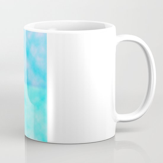 Cute Whimsical Bright Floral Tree Collage Teal Sky Mug