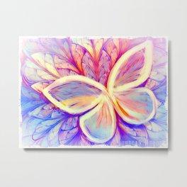 Pastel Butterfly Wings Metal Print