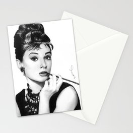 Audrey Hepburn Pencil drawing Stationery Cards