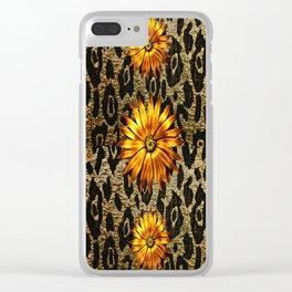 Animal Print Cheetah Triple Gold Clear iPhone Case