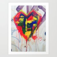 Heart On The Wall Art Print