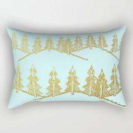 Golden taiga Rectangular Pillow