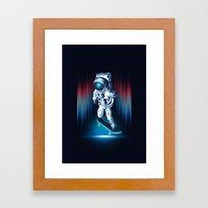 Space Skater Framed Art Print