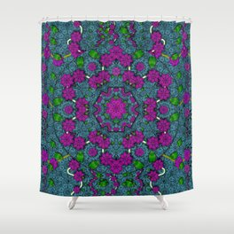 the most beautiful flower forest on earth Shower Curtain