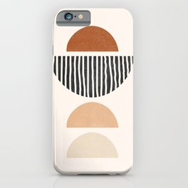 Abstract Geometric Shapes - Mid Century Boho Terracotta, Abstract Half Circles,  Earth Tones iPhone Case