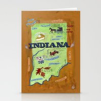 indiana Stationery Cards featuring INDIANA by Christiane Engel