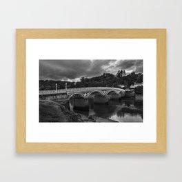 The Old Wye Bridge Chepstow Framed Art Print