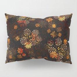 Orange & brown floral pattern Pillow Sham
