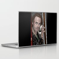 rick grimes Laptop & iPad Skins featuring Rick Grimes  Walking Dead by Kenneth Shinabery