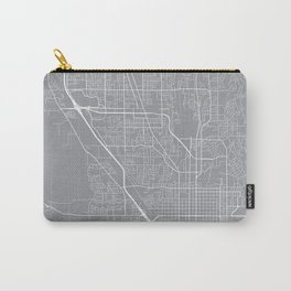 Provo Map, Utah USA - Pewter Carry-All Pouch