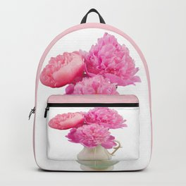 Classic Peonies In Farmer's Pitcher Backpack