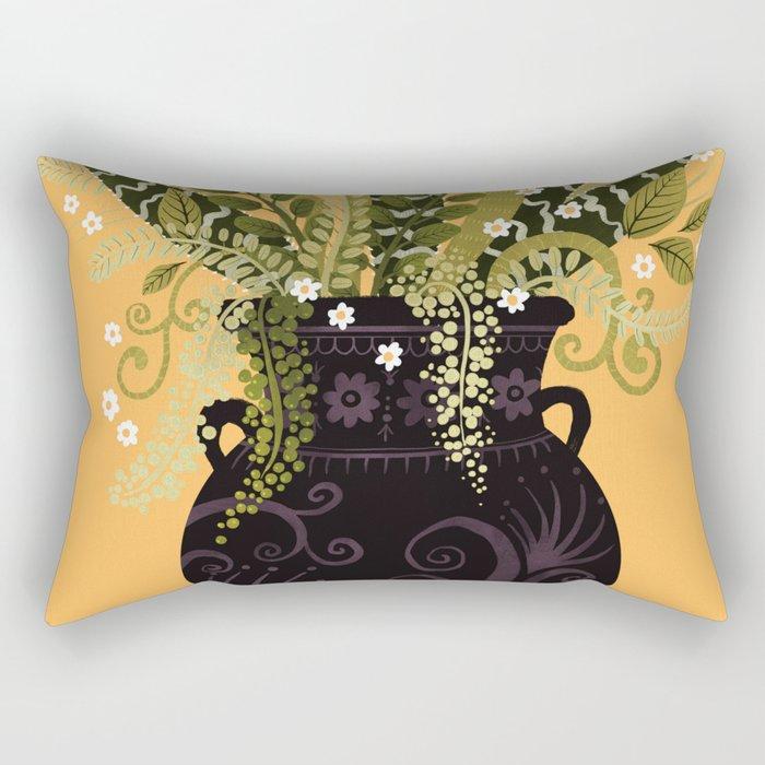 Black Vase I Rectangular Pillow