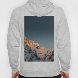 Last light before sunset on mountains Hoody
