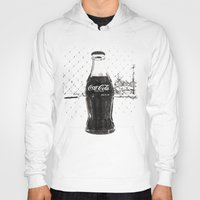 coke Hoodies featuring Frosty Coke by Vorona Photography