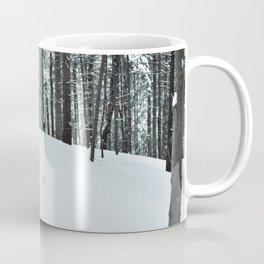 Bear footprints in the snow Coffee Mug