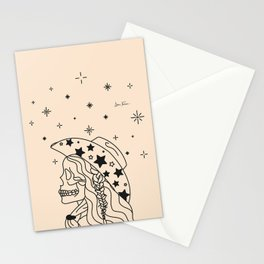 Love or Die Tryin' - Rhinestone Cowgirl Black & Cream Stationery Cards