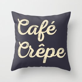Café Crêpe / Coffee Crepe Throw Pillow