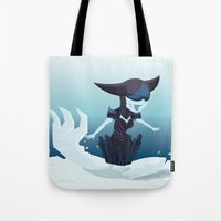 league of legends Tote Bags featuring Lissandra - League of Legends by Sandy Tang