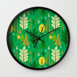 june bloom Wall Clock