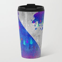 Abstract Colorful Rain Drops Design Travel Mug