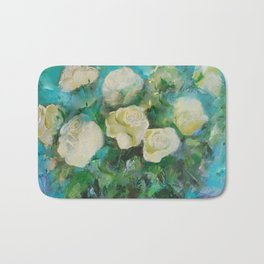 Tea Roses  Bath Mat