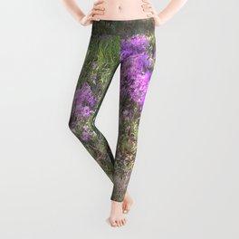 Violet Wildflowers No. 2 Leggings