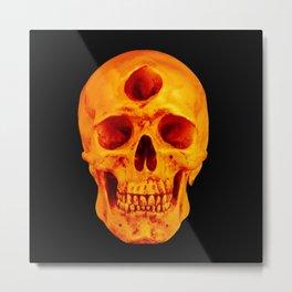 3rd Eye Contact (Orange) Metal Print