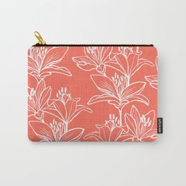 Lily Love in Coral Orange Carry-All Pouch