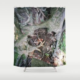 Living on the Edge Shower Curtain