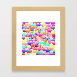 Mother's Day Hearts Framed Art Print