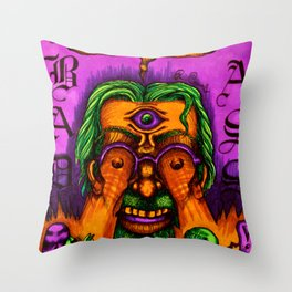 R. Crumb tribute version 3 Throw Pillow