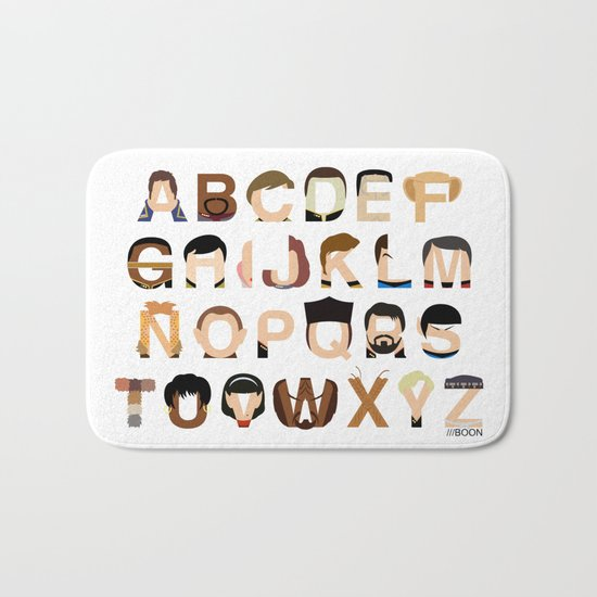 Star Trek Alphabet Bath Mat