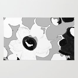 Fashion Floral design Black&White print Rug