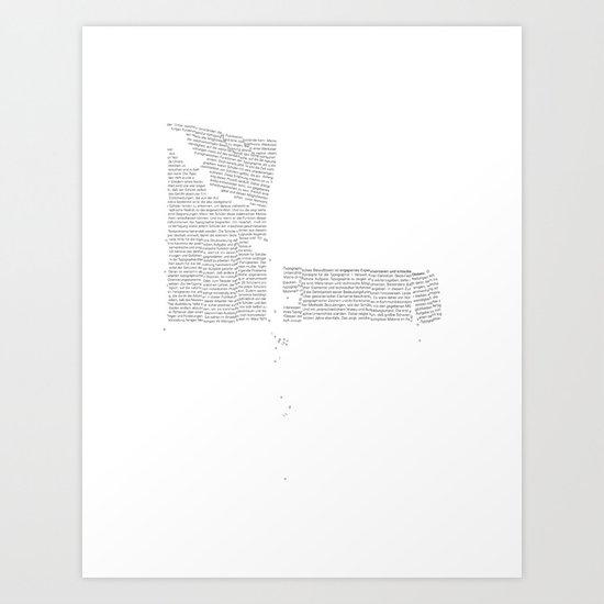 Erosion & Typography 4 Art Print