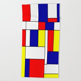 Mondrian #38 Beach Towel