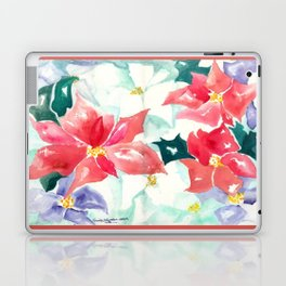 Poinsettia Cheer Laptop & iPad Skin