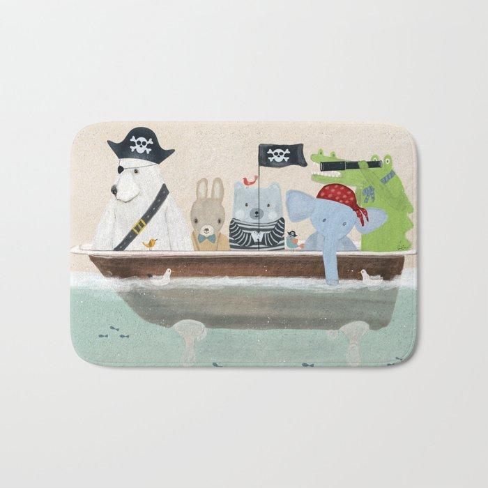 the pirate tub Bath Mat
