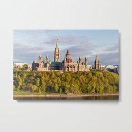 Parliament Hill, in Ottawa Metal Print