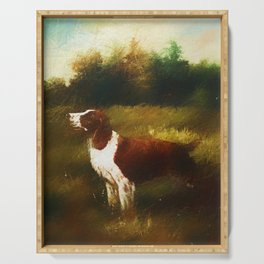 Hunting dog Serving Tray