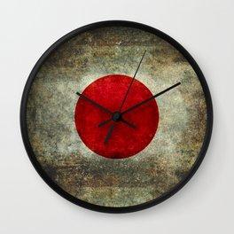 National flag of Japan - Super Grunge Wall Clock