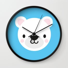 Perrie the Polar Bear Wall Clock