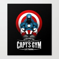 gym Canvas Prints featuring Capt's Gym by Corey Courts